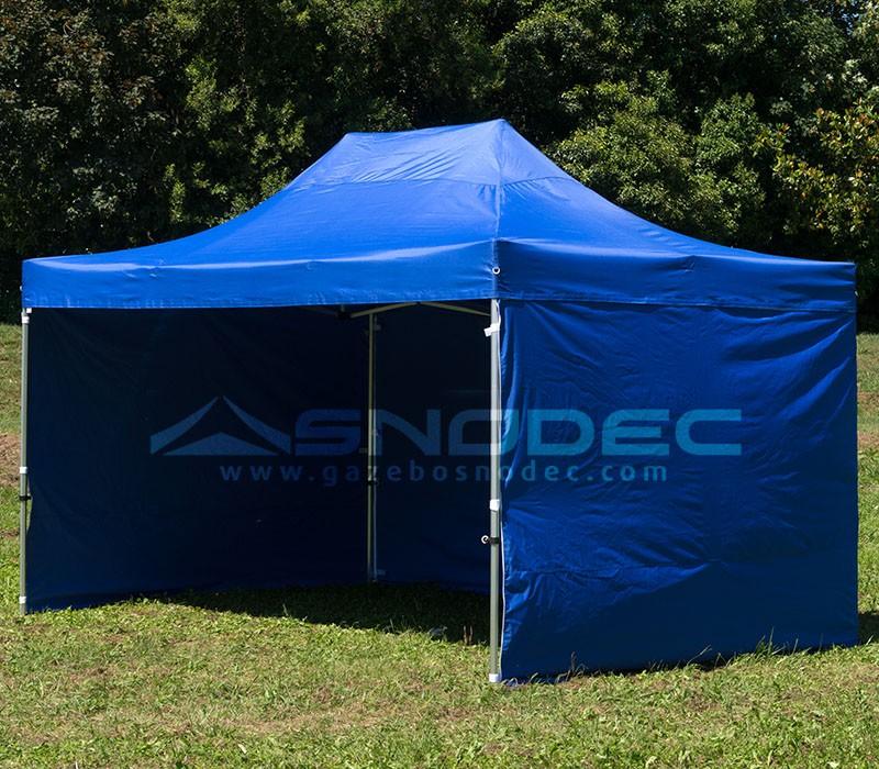 gazebo pieghevole 3x4 5 blu acciaio 30mm con teli laterali prezzo online. Black Bedroom Furniture Sets. Home Design Ideas