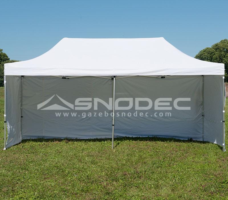 Impermeabile 100/% GARANTITO Laterali SNODEC Gazebo RAPIDO 3x6 Bianco in Acciaio 30mm