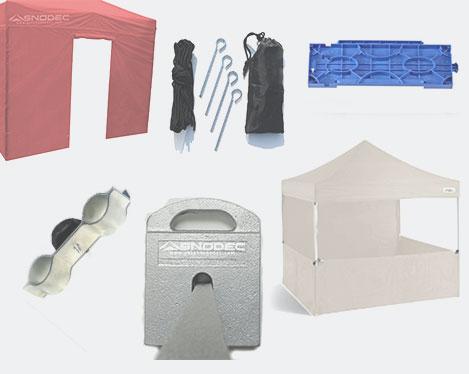 Gazebo pieghevole accessori